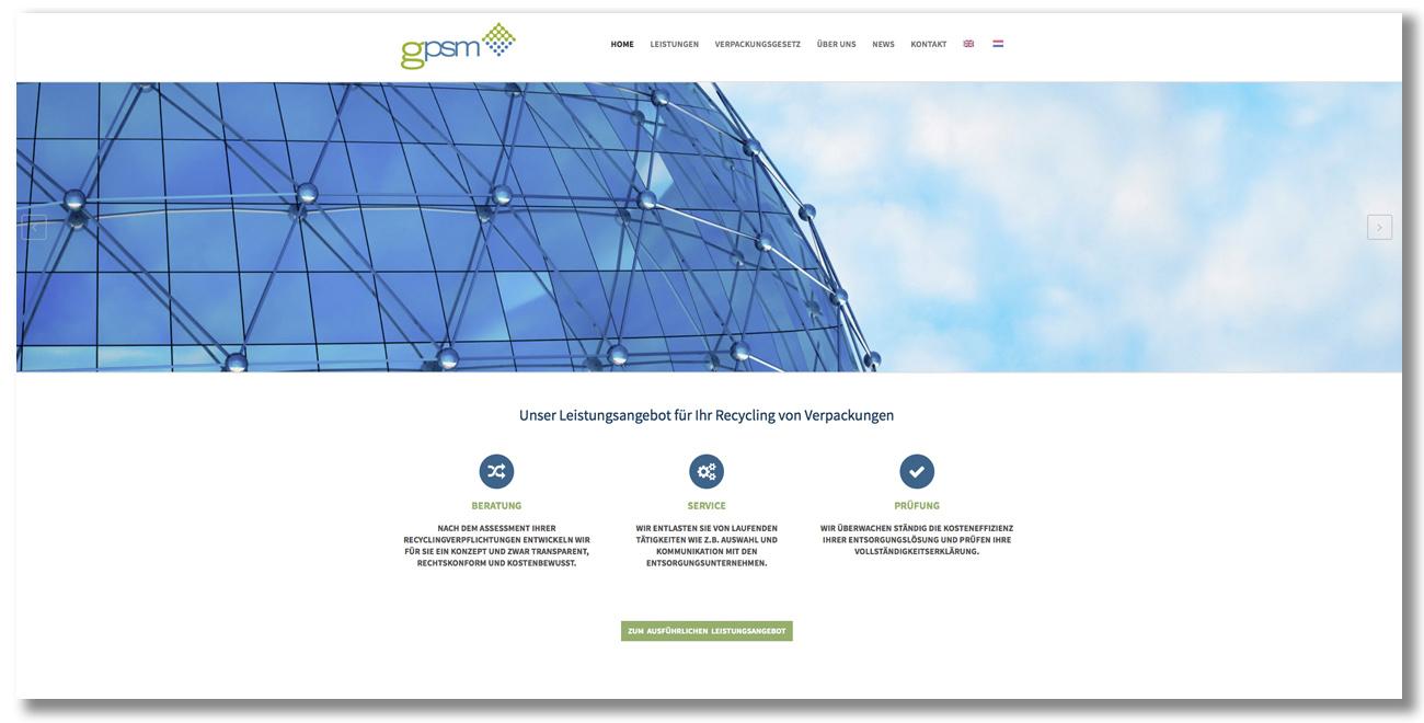 WEBSITE-RELAUNCH GPSM GmbH